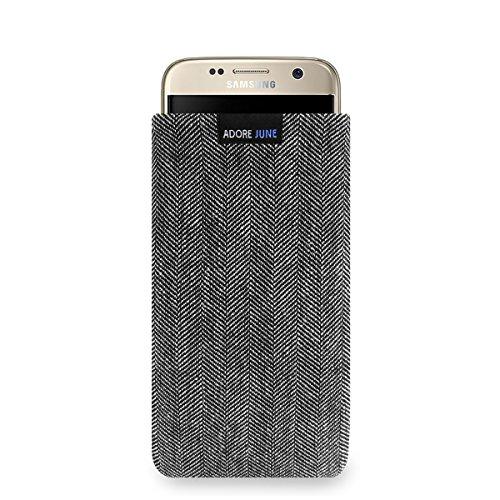 Adore June Samsung Galaxy S7 Hülle, Handytasche [Serie Business] Charakteristisches Material, Stofftasche Fischgrat-Stoff [Display-Reinigungseffekt] Galaxy S7 Case Sleeve