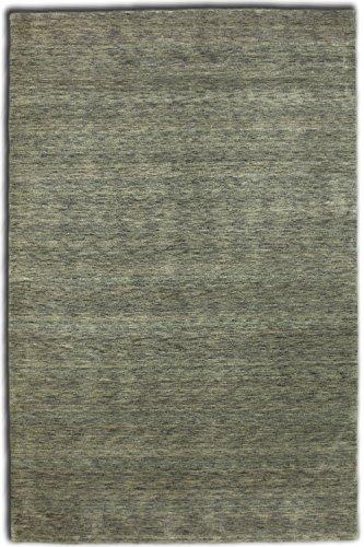 Morgenland Gabbeh Loribaft Teppich Silber Grau Einfarbig Uni Reine Wolle, Größe:300 x 80 cm Läufer, Farbe:Silber -