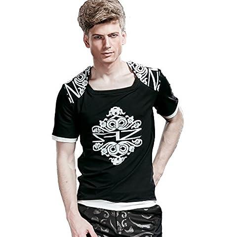 FANZHUAN T Shirt Slim Homme Imprimé T-Shirt Pour Homme T Shirt Homme Manche Courte