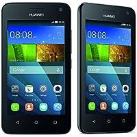Huawei Y3 Smartphone Y360 U-31 nero (Display 4 Pollici IPS, Processore 1,3 GHz Quad-Core, Fotocamera 5 MP, Memoria 4 GB, Android 4.4)