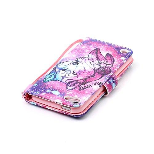 Ooboom® iPhone 5SE Hülle Flip PU Leder Schutzhülle Handy Tasche Case Cover Wallet Standfunktion Bookstyle Karte Halter für iPhone 5SE - Baum Schwarz Wolf