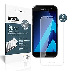 Samsung Galaxy A5 (2017) Pellicola Protettiva - 2x dipos Glass Protezione Vetro Flessibile 9H