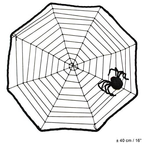 Karneval-Klamotten Spinnennetz mit Spinne Deko-Ration Zubehör Spinnengewebe Halloween - Spinnennetz Kostüm Zubehör