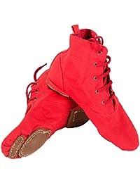 Tela Morbido Scarpe da Ballo Jazz Swing Ballet Ginnastica Sport Fitness  Allenamento Yoga per le Ragazze Bimba Donna… 0062002b044