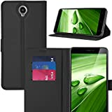 iBetter CUBOT Max Wallet Case Premium PU Leather Wallet Smartphone Case with Stand Function for CUBOT Max Smartphone, Black