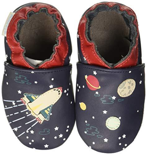 Robeez Baby Jungen Speed Spaceship Flache Hausschuhe, Blau (Marine 10), 21/22 EU -
