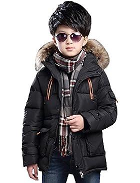 OCHENTA Ropa de Abrigo Chaqueta con Capucha Engrosado para Niños Invierno