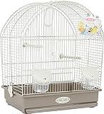 Gabbia Uccelli per canarini, pappagallini e mandarini Salome 310x400x480 mm Beige