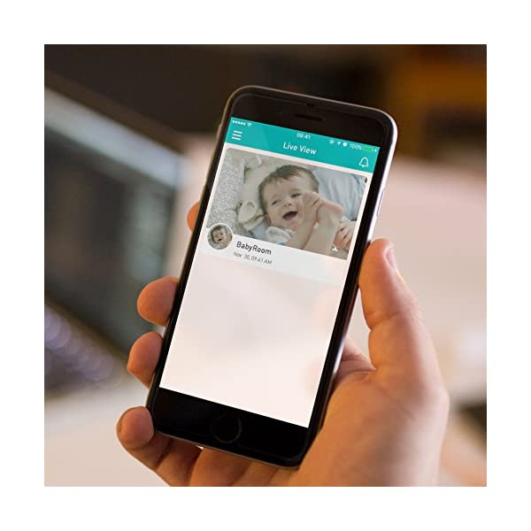 Lollipop - Smart Baby Monitor (Turquoise)  [Short Live Feed Latency] - 1 second latency with good WIFI signal under same WIFI, generally  8