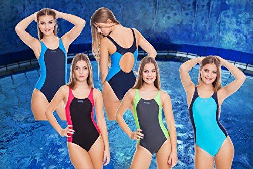 Aqua Speed® Angela Badeanzug Dameneinteiler Pro Back Schwimmrücken Sportträger schwarz / rot / 16
