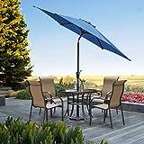 Grand Patio Gartenschirm mit Dreh-Kipp-Mechanismus Kurbelschirm Sonnenschutz UV-Schutz Sonnenschirm Ø