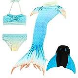 Das beste Mädchen Bikini Badeanzüge Schönere Meerjungfrauenschwanz Zum Schwimmen mit Meerjungfrau Flosse Schwimmen Kostüm Schwanzflosse - Ein Mädchentraum- Gr. 140, Farbe: A10