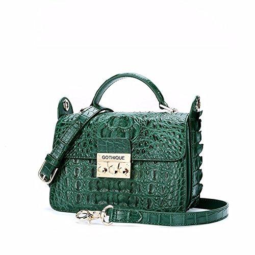lpkone-Chers motif crocodile Messenger Bag, sacs à main sacs à bandoulière femme petit emballage Dark Green