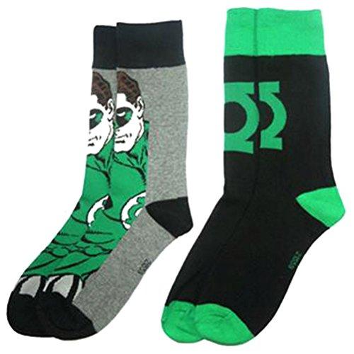 """DC 80A244""""Green Lantern calzini da uomo (taglia 6-11, confezione da 2)"""