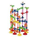 AOLVO Pista Biglie Set di Pista Biglie in Plastica Giocattolo per la Costruzione di Pista per Bambini 105 Pezzi
