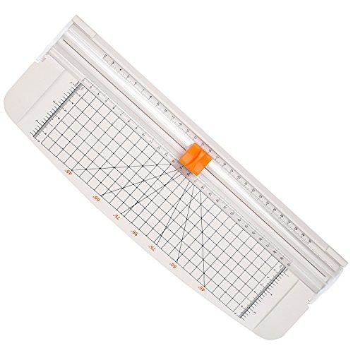 Cobee Papierschneider aus Titanstahl, 30,5 cm, A4-Schneider mit automatischer Sicherheitsvorrichtung A4 weiß