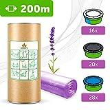 NEW 200 M. ECO Recharge de poubelle à couches Sangenic TEC & Simplee | Angelcare | Litière Litter Locker II | Parfum LAVANDE + Désodorisant DEO ACTIV Extra + Tube carton EasyRefill | 100% Compatible