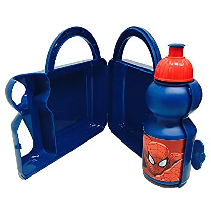 Marvel Ultimate Spiderman Fiambrera Estuche Rígido con Botella