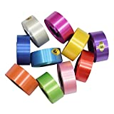 #9: Satyam Kraft Plastic Curling Ribbon used in Flower Making Width: 1 Inch Length: 25 meters each roll(RANDOM COLOUR) (10)