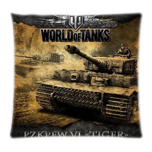 Hello Halo World of Tanks Logo Game Gaming Custom Kissenbezüge Kissen Sham Werfen Kissen Schutzhülle Twin Seiten bedruckt - Twin-druck-tank