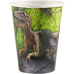 Amscan–9900354266ml dinosaurio ataque vasos de papel