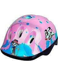 Casco de bicicleta para niños, diseño de dibujos animados, 3–15años, color rosa, tamaño Purple and Pink