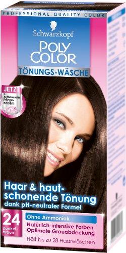 Schwarzkopf Poly Color Tönungs-Wäsche Stufe 3, 24 Dunkelbraun, 1er Pack (1 Stück)