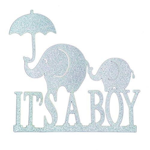 MagiDeal Cake Topper, Tortenstecker, Kuchen Picker, Tortenständer, Baby Shower Party Zubehör, Set/20pcs - Silber it's a Boy, 14 cm