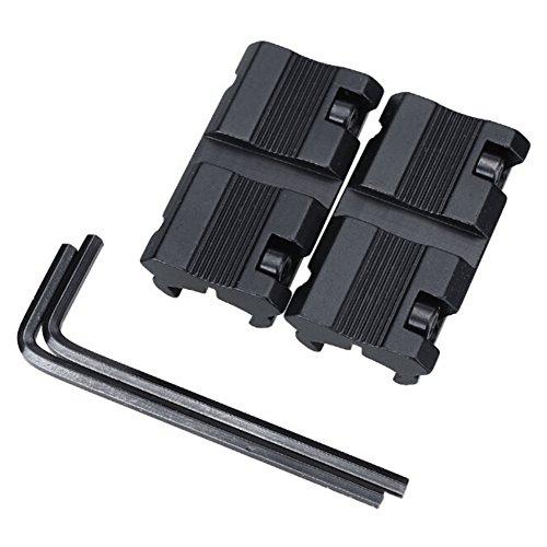 Balight Jagd Zielfernrohr Mounts, 2pcs / Set Adapter Basis 11mm bis 20mm Schienenmontage Zubehör -