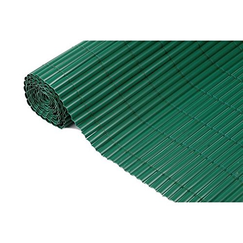 Canisse en PVC vert simple face avec fixations H1,5xL5m