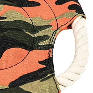 LMS Trading Frisbee Dummy Camouflage env. 22 cm Flottant et Lavable en Toile et Corde de Coton