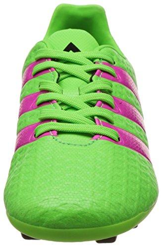 adidas Unisex-Kinder Ace 16.4 Fxg Fußballschuhe Grün (Solar Green/Shock Pink/Core Black)