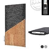 flat.design Handy Hülle Evora für Emporia TOUCHsmart handgefertigte Handytasche Kork Filz Tasche Case fair dunkelgrau