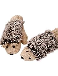 Vollter Hiver gants chauds hérisson chauffée Villus mitaines Cartoon pour les filles femmes dame