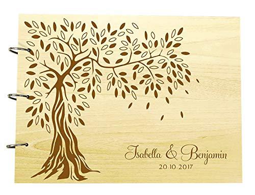 buch Personalisierte Holz Gravierte Name Und Datum Foto Album Buch Für Geschenke ()