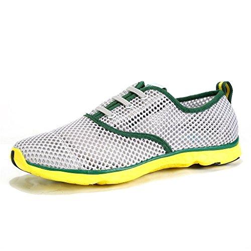 iLory Unisexe Chaussures d'eau Water Shoes Chaussons Pour Sport Aquatique de Plage Pour Femme et Homme Vert