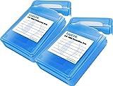 LogiLink UA0134 Festplatte Silikon Schutzhülle für 1x 8,9 cm (3,5 Zoll) HDD, blau