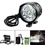 Bicycle Light, TopTen 5x T6 LED 5000 Lumens 3 Modes Ultra Bright Bike