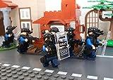 Modbrix 6 x SEK Polizei Minifiguren Spezialeinheit Soldaten Figuren inkl. Bewaffnung