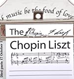 Chopin Liszt Board (note board with note pad)