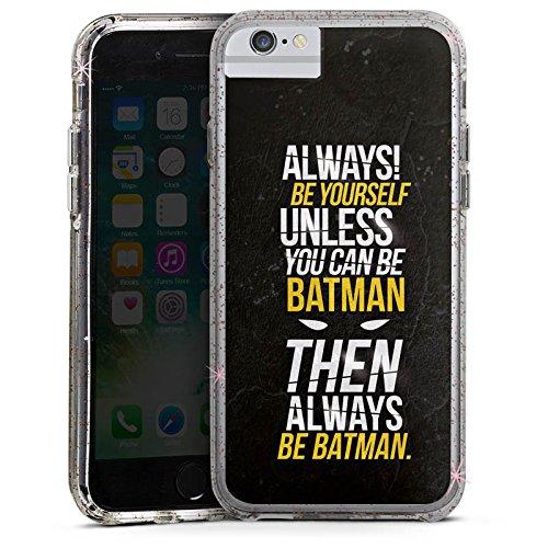 Apple iPhone X Bumper Hülle Bumper Case Glitzer Hülle Batman Sayings Phrases Bumper Case Glitzer rose gold