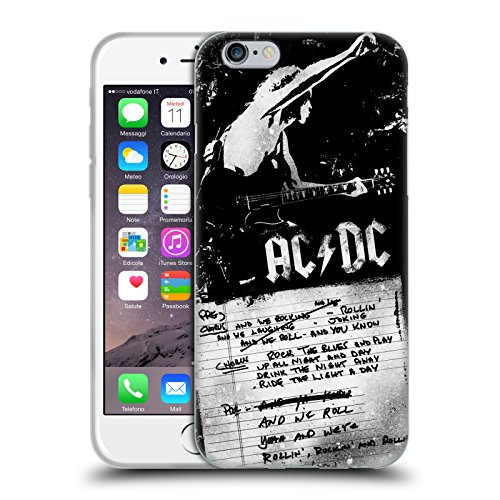 Head Case Designs Offizielle AC/DC ACDC We Rock It and We Roll It Text Soft Gel Huelle kompatibel mit iPhone 6 / iPhone 6s -