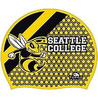 Gorro de natación TURBO Seattle College de silicona hornisse Onesize