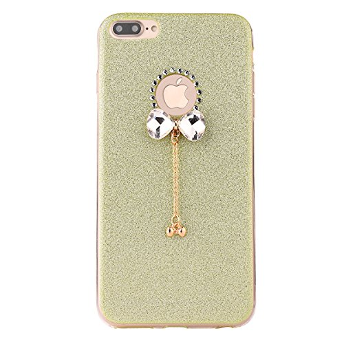 "iPhone 7Plus Handyhülle, iPhone 7Plus Tasche, CLTPY Elegante Sparkly Series Slim Fit Silikon Cover, Kreativ Bling Diamant Bowknot Design Abdeckung für 5.5"" Apple iPhone 7Plus (Nicht iPhone 7) + 1 x St Grün 1"