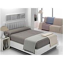 """ADP Home - Plaid/Colcha Multiusos """"ZIGZAG"""" Ideal para Cama o Sofá (medida: 230x260 cm), GRIS CLARO"""
