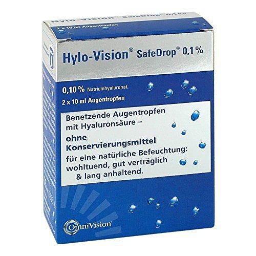Hylo-Vision SafeDrop 0,1 % Augentropfen, 2x10 ml