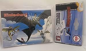 8 Cartes d'invitation - Dragons