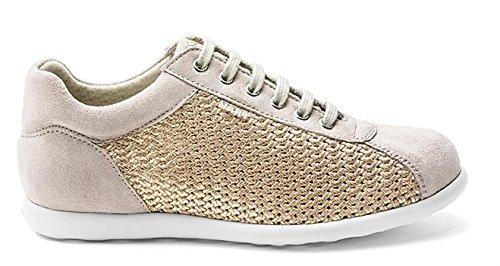 Frau 47Z4, Sneaker Donna in Camoscio/Tessuto Bronzo