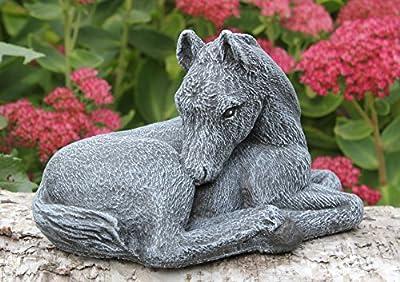 Steinfigur Pferd klein Steinguss Schiefergrau von Tiefes GbR auf Du und dein Garten