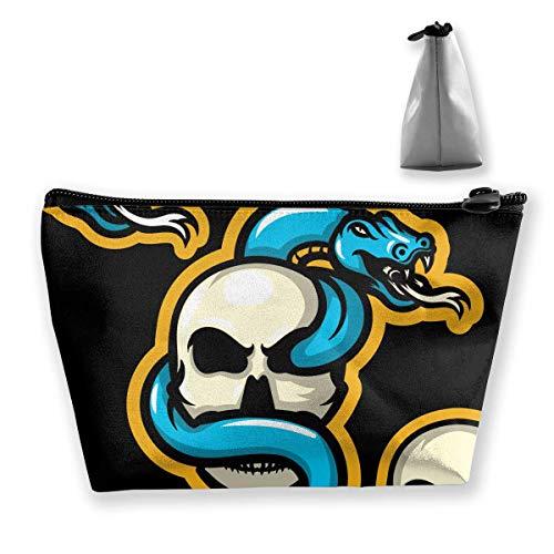 Snake Skull Mascots Women Makeup Bags Multifunktions-Kulturbeutel Organizer Travel Wash Lagerung (Trapez) - Duck Make-up Daisy Tasche